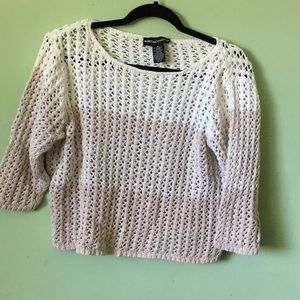 Norton McNaughton beige/white sweater NWOT Size XL